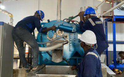 Installation des extracteurs d'amidon